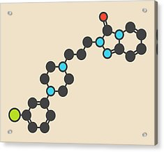 Trazodone Antidepressant Drug Molecule Acrylic Print by Molekuul