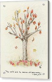 4 Trees-1st Tree Fall Acrylic Print