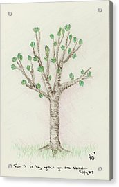 4 Trees-3rd Tree Spring Acrylic Print