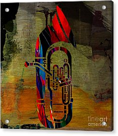 Tuba Acrylic Print by Marvin Blaine