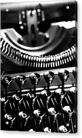 Typewriter Acrylic Print by Falko Follert