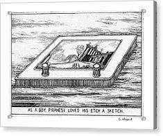As A Boy Piranesi Loved His Etch-a-sketch Acrylic Print