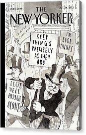 New Yorker October 24th, 2011 Acrylic Print