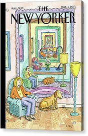 New Yorker March 4th, 2013 Acrylic Print by Roz Chast