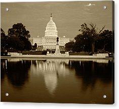 Usa, Washington Dc, Capitol Building Acrylic Print
