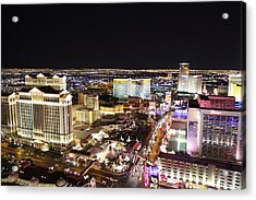 View From Eiffel Tower In Las Vegas - 01132 Acrylic Print