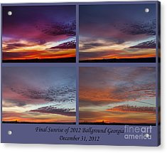 4 Views Of Sunrise 2 Acrylic Print by Michael Waters