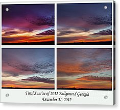 4 Views Of Sunrise Acrylic Print