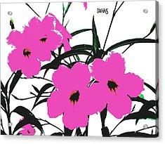 4 Violet Jack Flowers Acrylic Print