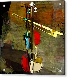 Violin Acrylic Print by Marvin Blaine