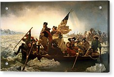 Acrylic Print featuring the photograph Washington Crossing The Delaware by Emanuel Leutze