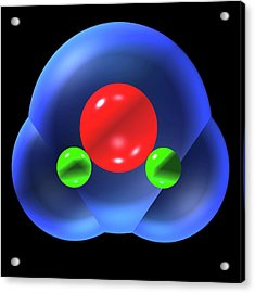 Water Molecule Acrylic Print by Russell Kightley