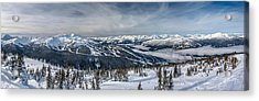 Whistler Mountain Peak View From Blackcomb Acrylic Print