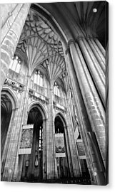 Winchester Cathedral Acrylic Print by Steven Poulton