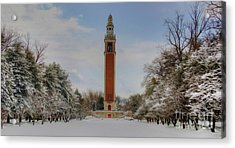Winter At The Carillon Acrylic Print by Kelvin Booker