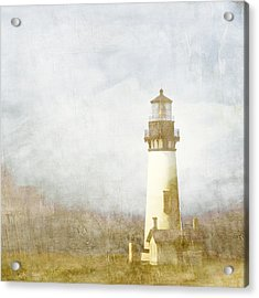 Yaquina Head Light Acrylic Print by Carol Leigh