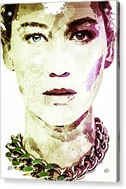 Acrylic Print featuring the digital art Jennifer Lawrence by Svelby Art