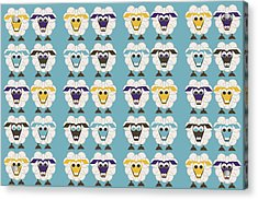 40 Sleep Sheep Acrylic Print by Asbjorn Lonvig