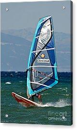 Windsurfing Acrylic Print by George Atsametakis