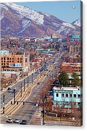 Acrylic Print featuring the photograph 400 S Salt Lake City by Ely Arsha