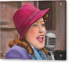 40s Singer Acrylic Print