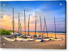 41st Street Sailing Beach Acrylic Print