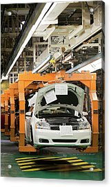 Car Assembly Production Line Acrylic Print by Jim West