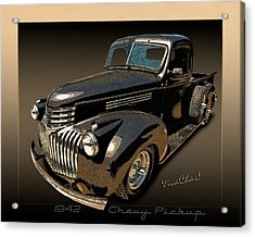 42 Chevy Pickup Rat Rod Acrylic Print