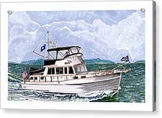 42 Foot Grand Banks Motoryacht Acrylic Print by Jack Pumphrey