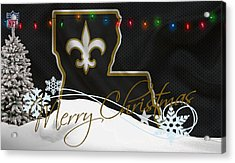 New Orleans Saints Acrylic Print by Joe Hamilton