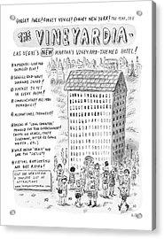 The Vineyardia Acrylic Print by Roz Chast