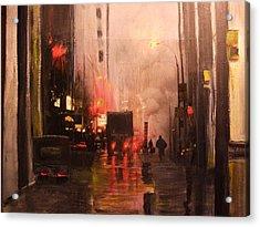 42nd And Broadway Ny Ny Acrylic Print