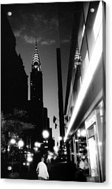 Acrylic Print featuring the photograph 42nd-street-dawn by Dave Beckerman