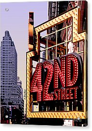 42nd Street New York City Acrylic Print by Linda  Parker