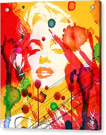 43x48 Who Shot Marilyn - Huge Signed Art Abstract Paintings Modern Www.splashyartist.com Acrylic Print