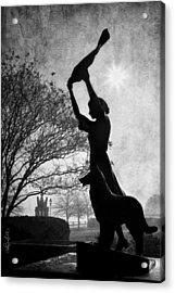 44 Years Of Waving - Black And White Acrylic Print by Renee Sullivan