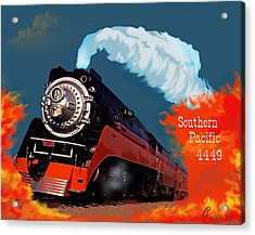 4449 Through The Fire Graphic Acrylic Print