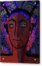 447 - Dark Lady Acrylic Print by Irmgard Schoendorf Welch
