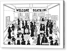 Welcome Death Acrylic Print