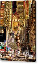 45th Street Redux Acrylic Print by Miriam Danar