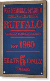 Buffalo Bills Acrylic Print by Joe Hamilton