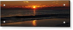 48 Degrees At The Beach Acrylic Print by Michele Kaiser