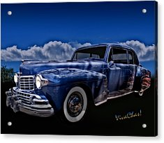48 Lincoln Continental By Moonlight Acrylic Print