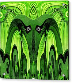 482 - Green Ghost Of The Woods Acrylic Print by Irmgard Schoendorf Welch