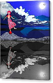 483 - Crucial  Dance Of Life Acrylic Print by Irmgard Schoendorf Welch