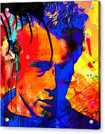 48x43 James Dean Hollywood Star - Huge Signed Art Abstract Paintings Modern Www.splashyartist.com Acrylic Print
