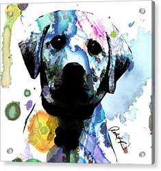 48x44 Labrador Puppy Dog Art- Huge Signed Art Abstract Paintings Modern Www.splashyartist.com Acrylic Print