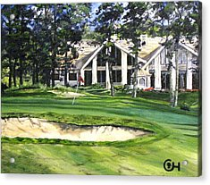 Acrylic Print featuring the painting 4th Andrew Hudson Memorial Golf Tournament by Kevin F Heuman