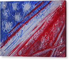 4th July Abstract Expressionism Acrylic Print by Thomas Griffith