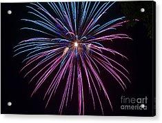 4th Of July 2014 Fireworks Bridgeport Hill Clarksburg Wv 1 Acrylic Print